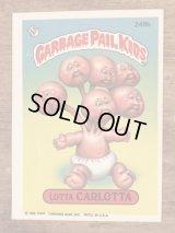 "Topps Garbage Pail Kids ""Lotta Carlotta"" Sticker Card 249b ガーベッジペイルキッズ ビンテージ ステッカーカード 80年代"