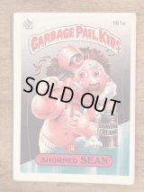 "Topps Garbage Pail Kids ""Shorned Sean"" Sticker Card 161a ガーベッジペイルキッズ ビンテージ ステッカーカード 80年代"