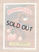 "Topps Garbage Pail Kids ""Loose Spring"" Sticker Card 222b ガーベッジペイルキッズ ビンテージ ステッカーカード 80年代"
