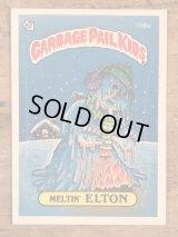 "Topps Garbage Pail Kids ""Meltin' Elton"" Sticker Card 158a ガーベッジペイルキッズ ビンテージ ステッカーカード 80年代"