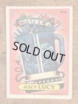 """Topps Garbage Pail Kids """"Juicy Lucy"""" Sticker Card 189b ガーベッジペイルキッズ ビンテージ ステッカーカード 80年代"""