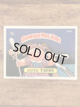 """Topps Garbage Pail Kids """"Cute Tippi"""" Sticker Card 335a ガーベッジペイルキッズ ビンテージ ステッカーカード 80年代"""
