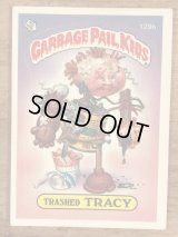 """Topps Garbage Pail Kids """"Trashed Tracy"""" Sticker Card 129b ガーベッジペイルキッズ ビンテージ ステッカーカード 80年代"""