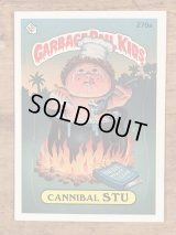 "Topps Garbage Pail Kids ""Cannibal Stu"" Sticker Card 270a ガーベッジペイルキッズ ビンテージ ステッカーカード 80年代"