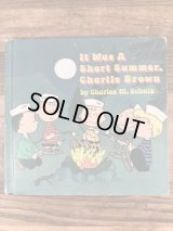 """Snoopy Peanuts Gang """"It Was A Short Summer,Charlie Brown"""" Picture Book スヌーピー ビンテージ 絵本 ピーナッツギャング 70年代"""
