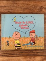 "Snoopy Peanuts Gang ""You're In Love Charlie Brown"" Picture Book スヌーピー ビンテージ 絵本 ピーナッツギャング 60〜70年代"