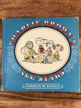 "Snoopy Peanuts Gang ""Charlie Brown's All Stars"" Picture Book スヌーピー ビンテージ 絵本 ピーナッツギャング 60〜70年代"