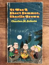 "Snoopy Peanuts Gang ""It Was A Short Summer,Charlie Brown"" Picture Book スヌーピー ビンテージ 絵本 ピクチャーブック 70年代"