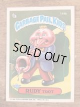 "Topps Garbage Pail Kids ""Rudy Toot"" Sticker Card 144b ガーベッジペイルキッズ ビンテージ ステッカーカード 80年代"