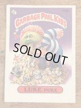 "Topps Garbage Pail Kids ""Luke Puke"" Sticker Card 170b ガーベッジペイルキッズ ビンテージ ステッカーカード 80年代"
