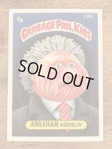 "Topps Garbage Pail Kids ""Abraham Wrinklin'"" Sticker Card 239b ガーベッジペイルキッズ ビンテージ ステッカーカード 80年代"