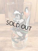 "Pepsi Collector Series Looney Tunes ""Pepe Le Pew & Daffy Duck"" Glass ペペルピュー&ダフィーダック ビンテージ グラス ペプシ 70年代"