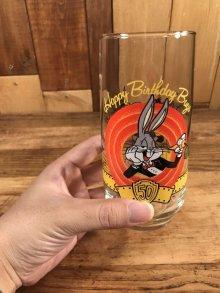 """他の写真3: Warner Bros Looney Tunes """"Happy Birthday Bugs"""" Glass ルーニーテューンズ ビンテージ グラス ワーナーブラザーズ 90年代"""