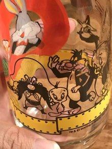 """他の写真2: Warner Bros Looney Tunes """"Happy Birthday Bugs"""" Glass ルーニーテューンズ ビンテージ グラス ワーナーブラザーズ 90年代"""