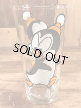 """Pepsi Collector Series """"Chilly Willy"""" Glass チリーウィリー ビンテージ グラス ペプシ 70年代"""