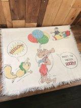 Rocky & Bullwinkle Towel ロッキー&ブルウィンクル ビンテージ タオル 70年代