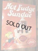 """Dairy Queen Dennis The Menace """"Hot Fudge Sunday"""" Poster デイリークイーン ビンテージ ポスター わんぱくデニス 70年代"""