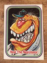 "LEAF Baseball Awesome All Stars Stickers ""Neal The Negotiator"" 55 ベースボールオウサムオールスターズ ビンテージ ステッカーカード 80年代"