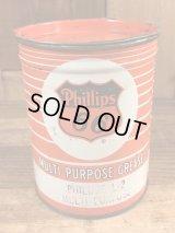 Phillips 66 Multi-Purpose Grease Tin Can フィリップス66 ビンテージ ブリキ缶 50年代