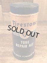 "The Firestone Tire & Rubber ""Tube Repair Kit"" Tin Can ファイヤーストーン ビンテージ ブリキ缶 40〜50年代"