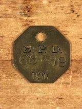 "B.P.D.""68-19"" Tool Brass Tag ツール ビンテージ ブラスタグ 真鍮 アンティーク"