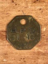 "B.P.D.""21-16"" Tool Brass Tag ツール ビンテージ ブラスタグ 真鍮 アンティーク"