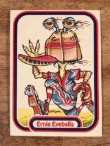 """LEAF Baseball Awesome All Stars Stickers """"Ernie Eyeballs"""" 23 ベースボールオウサムオールスターズ ビンテージ ステッカーカード 80年代"""