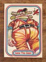 "LEAF Baseball Awesome All Stars Stickers ""Gene The Giant"" 24 ベースボールオウサムオールスターズ ビンテージ ステッカーカード 80年代"