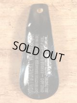 Montgomery Ward & Co. Black Shoe Horn 黒ラッカー ビンテージ シューホーン 靴ベラ 〜40年代