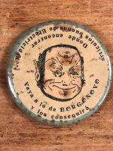 Vaya A Lo De Borgonovo Advertising Pocket Mirror 企業物 ビンテージ ポケットミラー 手鏡 1910年代〜