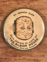 The Albion House Advertising Pocket Mirror 企業物 ビンテージ ポケットミラー 手鏡 1910年代〜