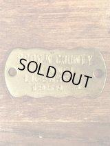 Brown County Kennel License Brass Tag ケンネルライセンス ビンテージ ブラスタグ 50年代