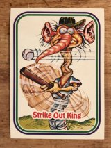 "LEAF Baseball Awesome All Stars Stickers ""Strike Out King"" 17 ベースボールオウサムオールスターズ ビンテージ ステッカーカード 80年代"