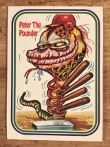 "LEAF Baseball Awesome All Stars Stickers ""Peter The Pounder"" 33 ベースボールオウサムオールスターズ ビンテージ ステッカーカード 80年代"
