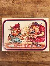 "LEAF Baseball Awesome All Stars Stickers ""Barney The Bat Eater"" 68 ベースボールオウサムオールスターズ ビンテージ ステッカーカード 80年代"