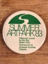 Summer Artpark 83 Pin Back イベント ビンテージ 缶バッジ 80年代