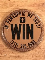 In Pansophic We Trust Win Pin Back 企業物 ビンテージ 缶バッジ 70〜80年代
