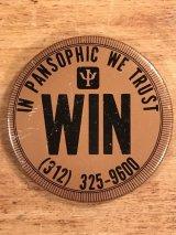 In Pansophic We Trust Win Pin Back 企業物 ビンテージ 缶バッジ 70〜80年代