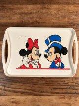 Disney Mickey & Minnie Plastic Mini Tray ミッキーマウス ビンテージ ミニトレイ ミニーマウス 70〜80年代