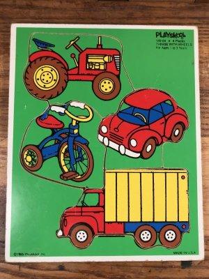 プレイスクール社製の車のビンテージパズル