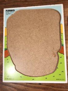 """他の写真1: Playskool Potato Head """"Slugger"""" Wooden Puzzle ポトテヘッド ビンテージ パズル 80年代"""