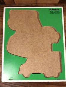 """他の写真1: Playskool """"Things With Wheels"""" Wooden Puzzle 乗り物 ビンテージ パズル 80年代"""