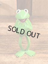 "Fisher-Price The Muppet Show ""Kermit The Frog"" Players Figure カーミット ビンテージ フィギュア マペットショウ 70年代"