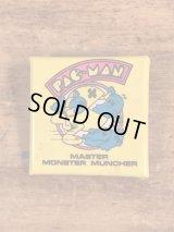 "Pac-Man ""Master Monster Muncher"" Pinback パックマン ビンテージ 缶バッジ 缶バッチ 80年代"