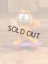"""McDonald's Garfield """"Skateboard"""" PVC Figure ガーフィールド ビンテージ PVCフィギュア ミールトイ 80年代"""