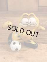 "Garfield ""Football"" PVC Figure ガーフィールド ビンテージ PVCフィギュア サッカー 80年代"