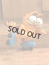 """Garfield """"Roller Skate"""" PVC Figure ガーフィールド ビンテージ PVCフィギュア ローラースケート 80年代"""