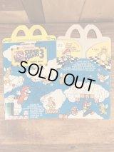 """McDonald's """"Super Mario Bros. 3"""" Happy Meal Box マクドナルド ビンテージ ハッピーミールボックス ミールトイ 90年代"""