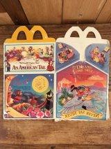 "McDonald's ""An American Tail"" Happy Meal Box マクドナルド ビンテージ ハッピーミールボックス ミールトイ 80年代"