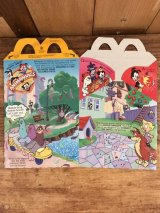 "McDonald's ""Animaniacs"" Happy Meal Box マクドナルド ビンテージ ハッピーミールボックス ミールトイ 90年代"